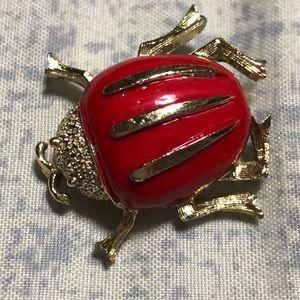 🎀5/$25 sale!  Gerrys Signed Vintage Bug  Brooch